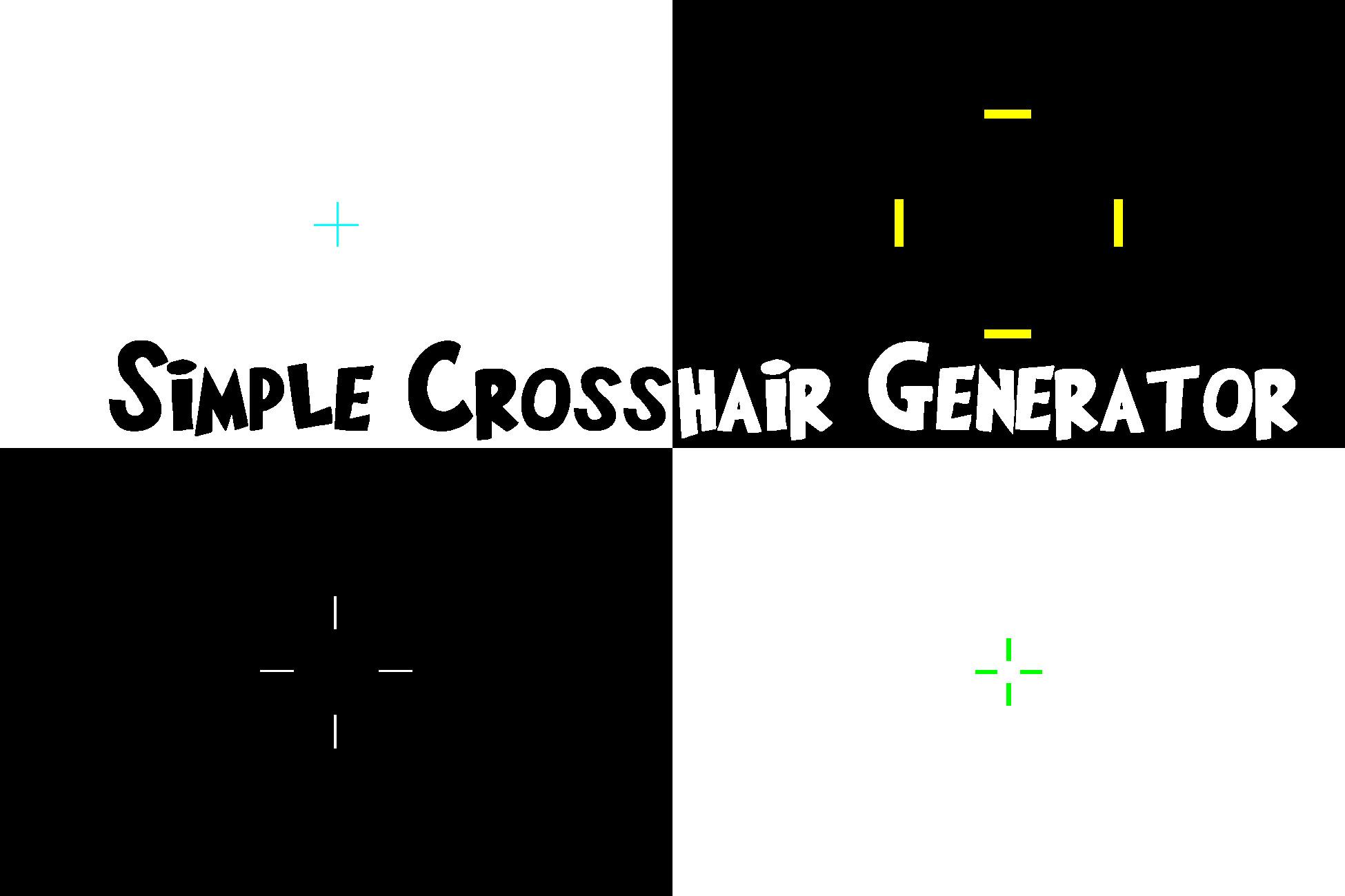 Simple Crosshair Generator Asset Store