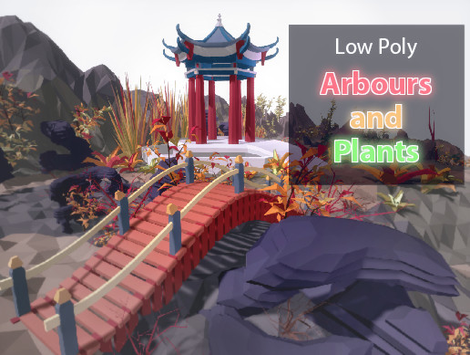 Arbours and plants Low Poly Pack