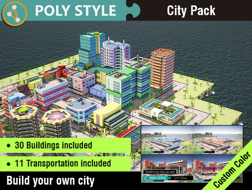 POLY STYLE - City Pack