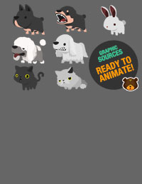 2D Cute Domestic Animal Pack V.2