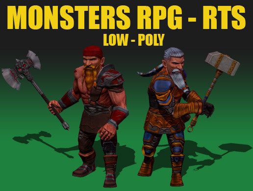 Fantasy Сharacter Dwarf-Free - Strategy, RPG, Mobile games