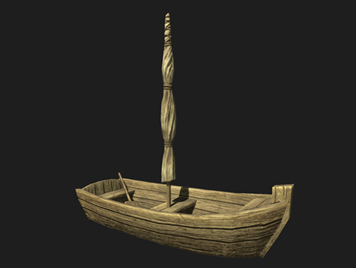 Small Wooden Boat Asset Store