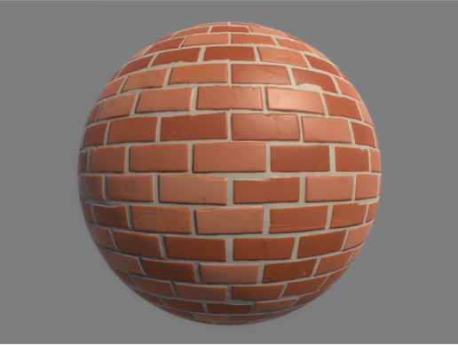 Customizable Stylized Brick Wall
