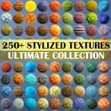 250+ Hand Painted Texture Mega Bundle