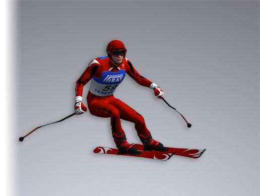 White Skier 16194 tris