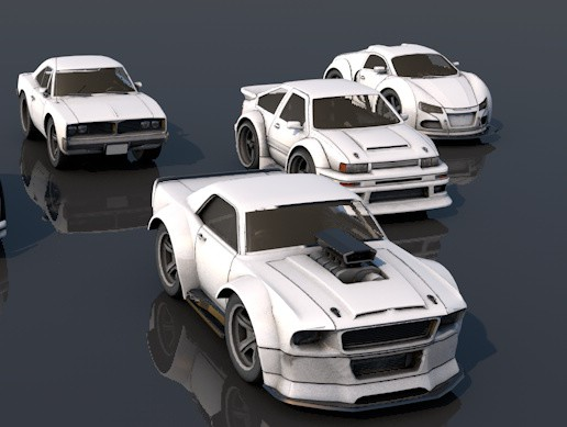 Pack Of six Pocket Sports Cars