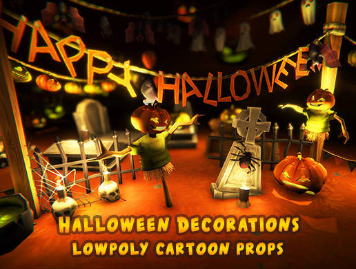 Halloween Lowpoly Props/Decorations Pack
