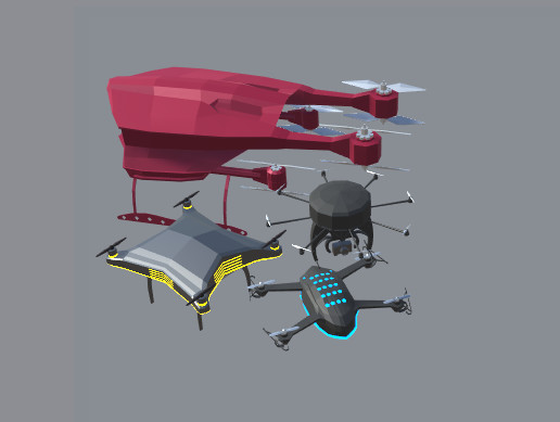 Drone Sci Fi Stylized Pack Low Poly