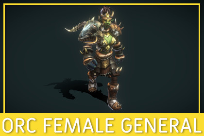Orc Female General [Fantasy]