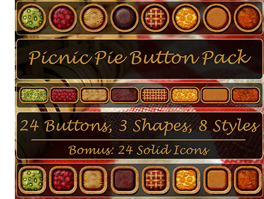 Picnic Pie Button Pack