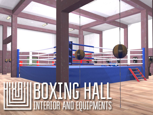 Boxing hall - interior and equipments
