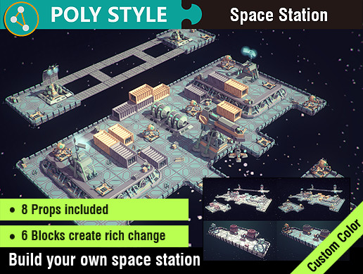 POLY STYLE - Space Station