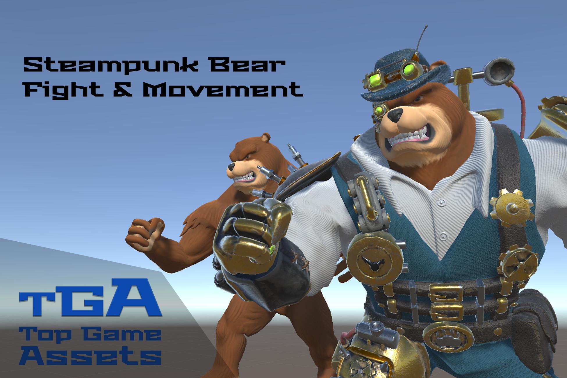 [RPG Animset] Steampunk Bear - Fight & Movement