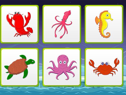 Kids Memory Game - Sea Creatures - Asset Store