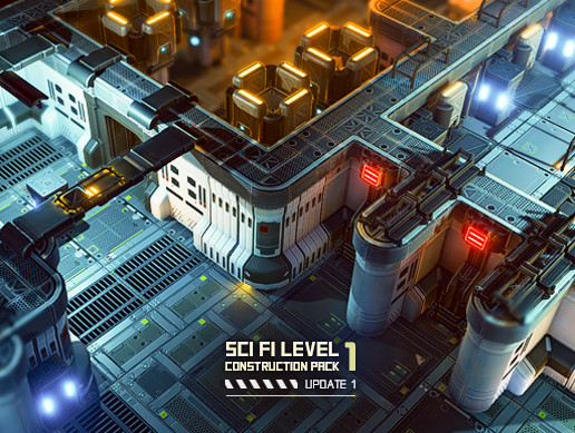 Sci Fi Level Construction Pack 1