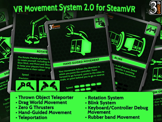 VR Movement System for SteamVR