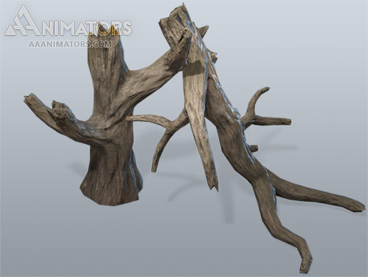 Low Poly Dead Trees 03