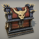 Fantasy Skull Treasure Chest