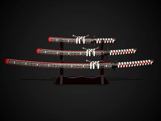 Samurai swords katana set No.2