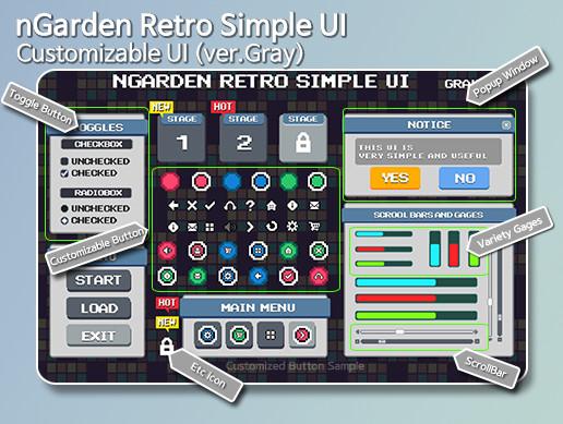 nGarden Retro Simple UI (Gray)