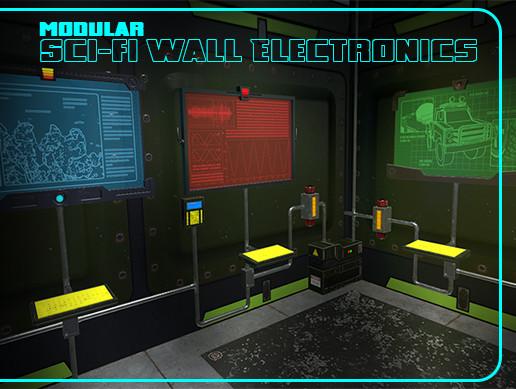 Modular Sci-fi Wall Electronics
