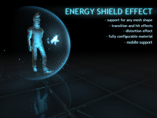 Energy Shield Effect with Transition and Hit Response