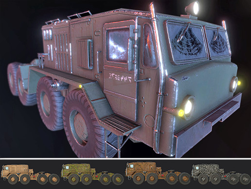 Russian Military Vehicles [LITE] MAZ 537