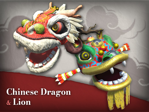 Chinese Lion and Dragon