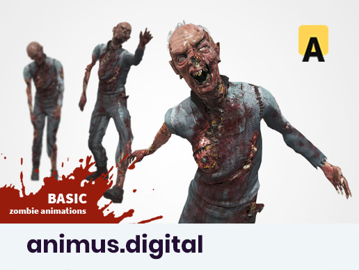 Zombie Animation Root Motion Basic Pack