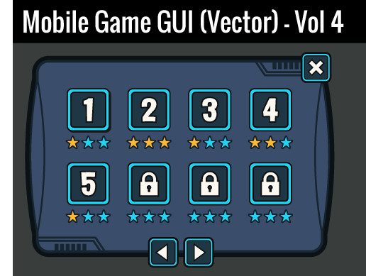 Mobile Game GUI (Vector) - Vol 4
