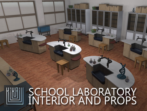 School laboratory - interior and props