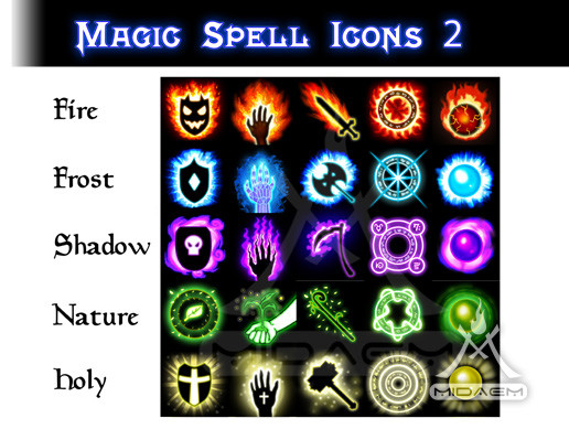 Magic Spell Icons 2