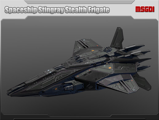Spaceship Stingray Stealth Frigate