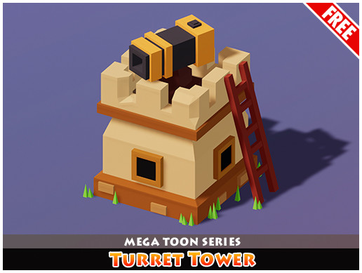 Meshtint Free Turret Tower Mega Toon Series