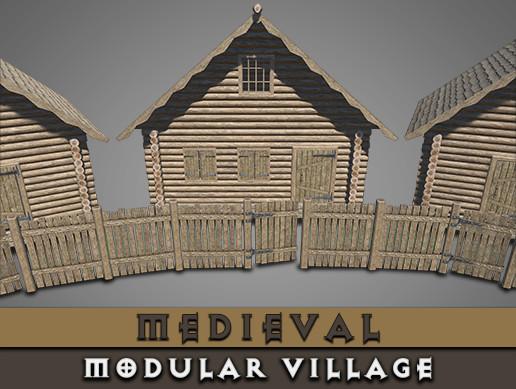 Medieval Modular Village [Wooden_PBR]