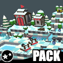 Winter Forest - Low Poly Toon Battle Arena / Tower Defense Pack