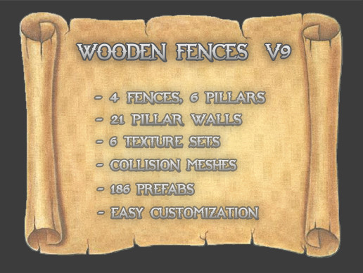 Wooden Fences V9 (Trapeze)