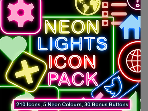 Neon Lights Icon Pack