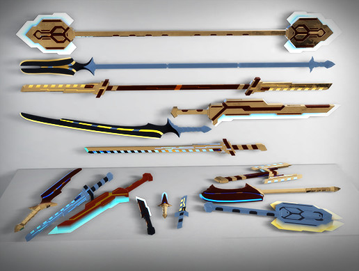 Scifi Melee Weapons