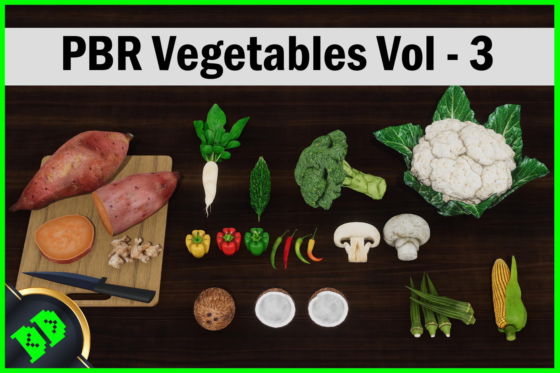 PBR Vegetables Vol - 3