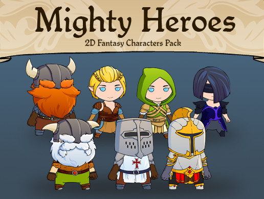 Mighty Heroes 2D Fantasy Characters Pack