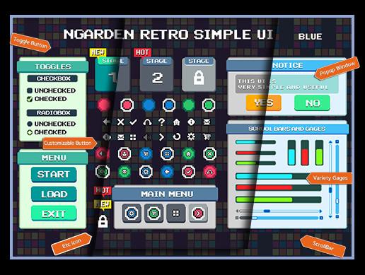 nGarden Retro Simple UI Pack