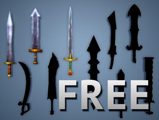 Low Poly Fantasy Swords FREE