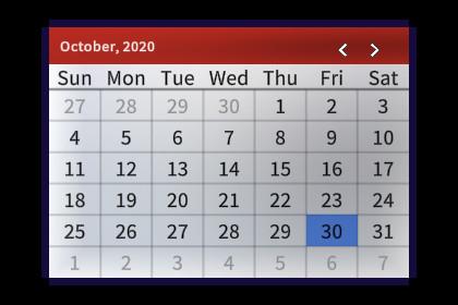 Date Picker by Bitsplash