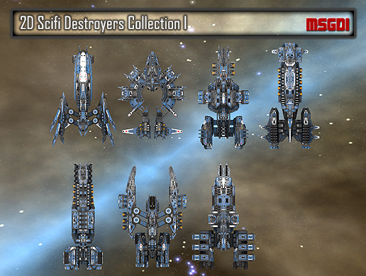 2D Destroyers Collection I