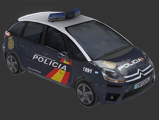 Police Car (Spain) - Asset Store