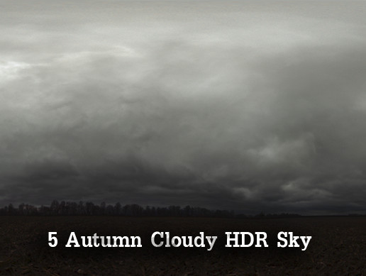 5 Autumn Cloudy HDR Sky