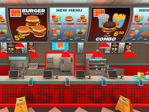 Fastfood interior