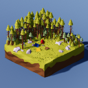 Low Poly Landscapes - Campsite