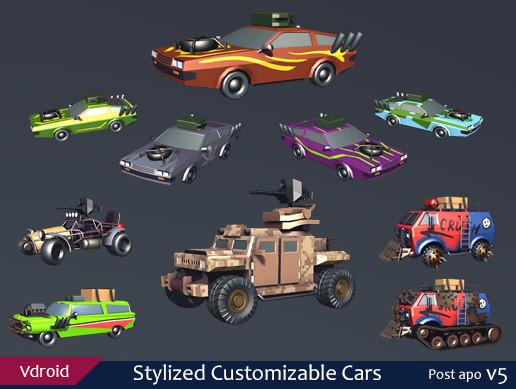 Stylized Customizable Cars (post apo v5)